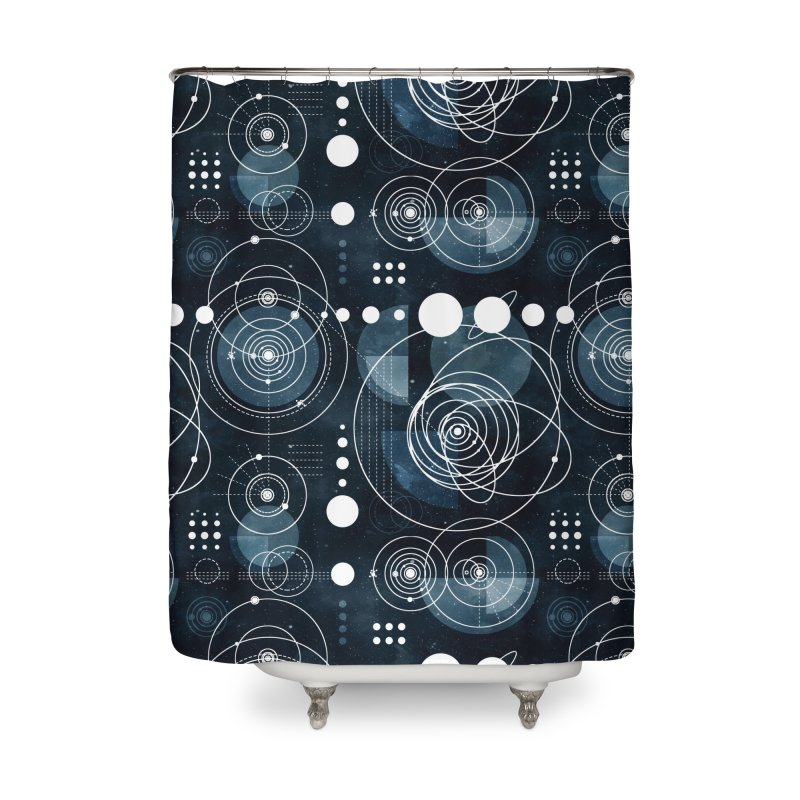 Bauhaus galaxy Home Shower Curtain by AdenaJ
