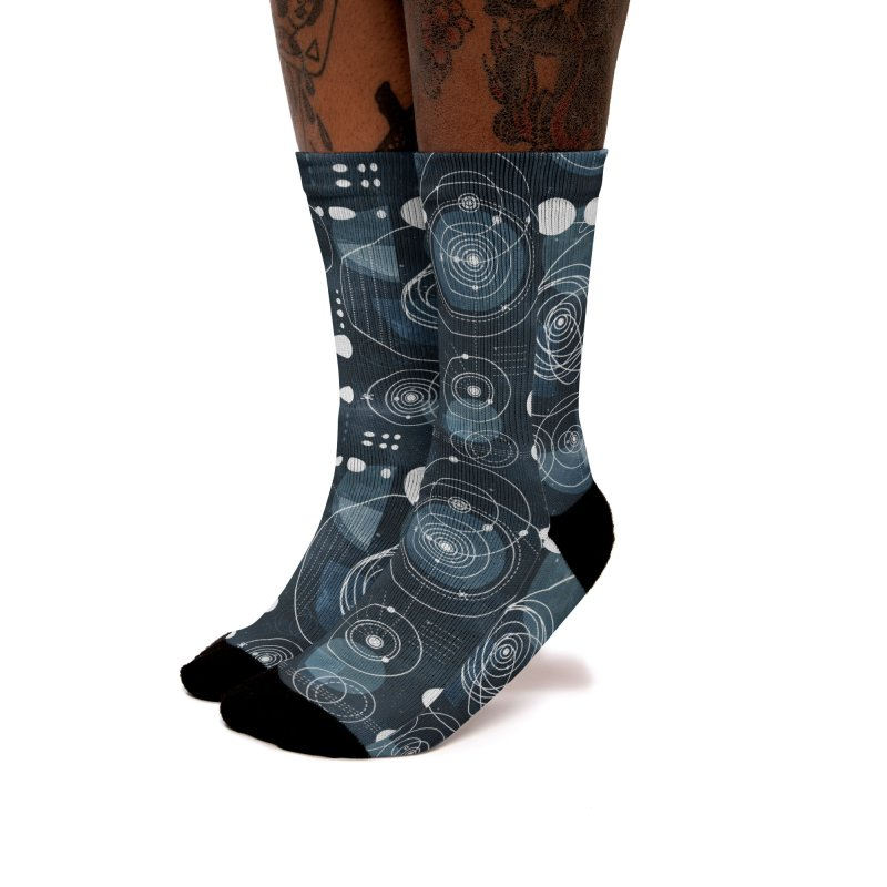 Bauhaus galaxy Women's Crew Socks by AdenaJ