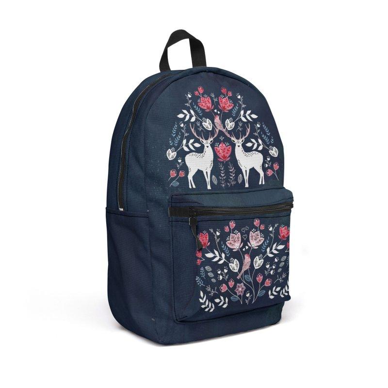 Scandinavian Deer Accessories Backpack Bag by AdenaJ
