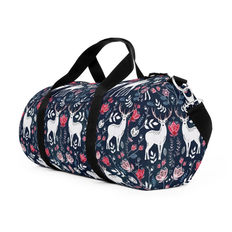 Scandinavian Deer Accessories Duffel Bag Bag by AdenaJ