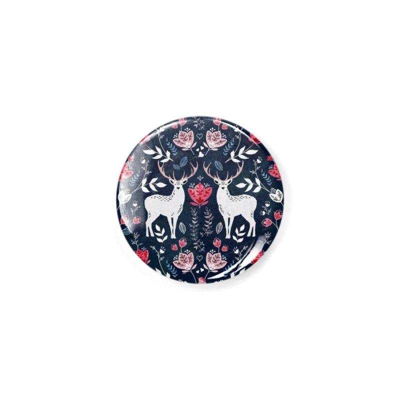 Scandinavian Deer Accessories Button by AdenaJ