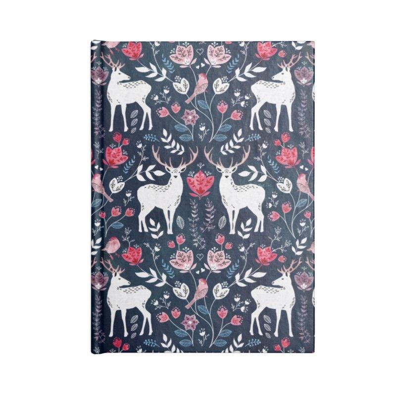 Scandinavian Deer Accessories Lined Journal Notebook by AdenaJ