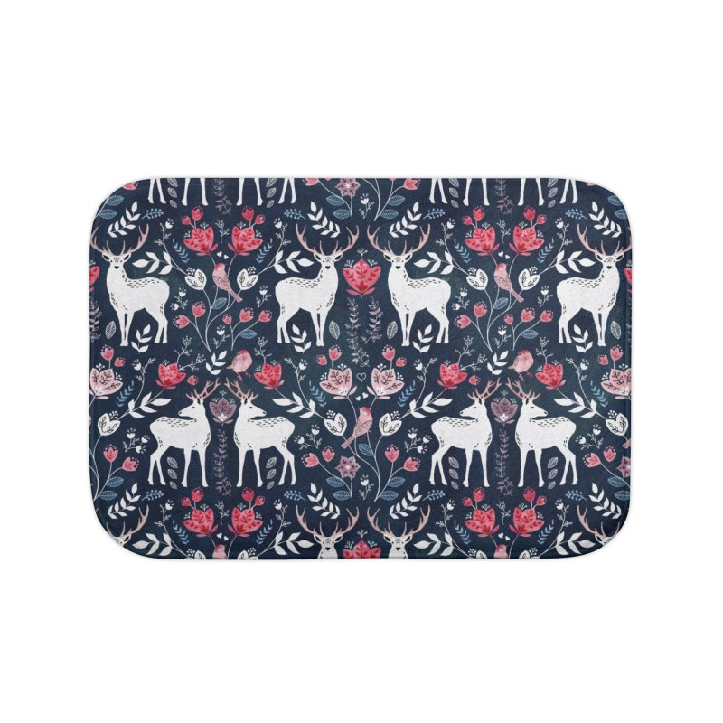 Scandinavian Deer Home Bath Mat by AdenaJ