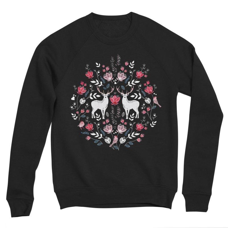 Scandinavian Deer Men's Sponge Fleece Sweatshirt by AdenaJ