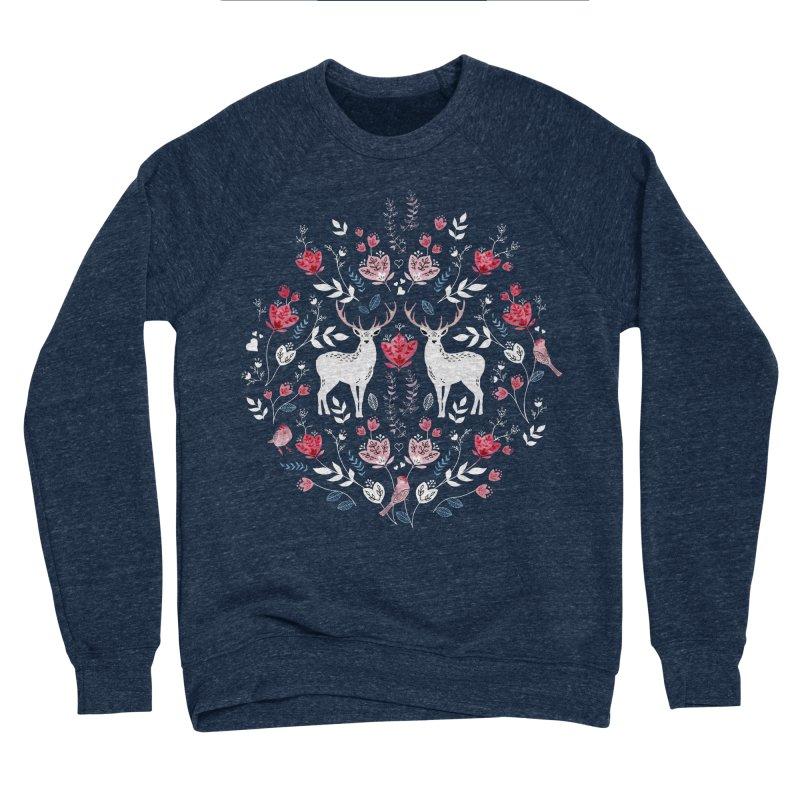 Scandinavian Deer Women's Sponge Fleece Sweatshirt by AdenaJ