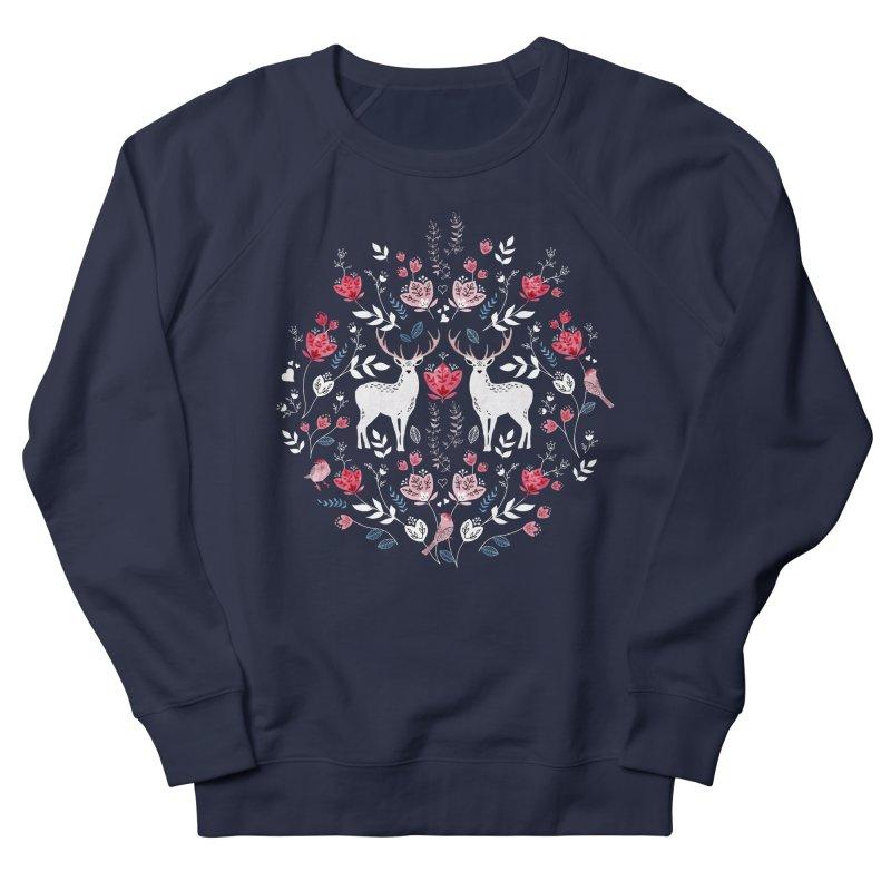 Scandinavian Deer Women's French Terry Sweatshirt by AdenaJ