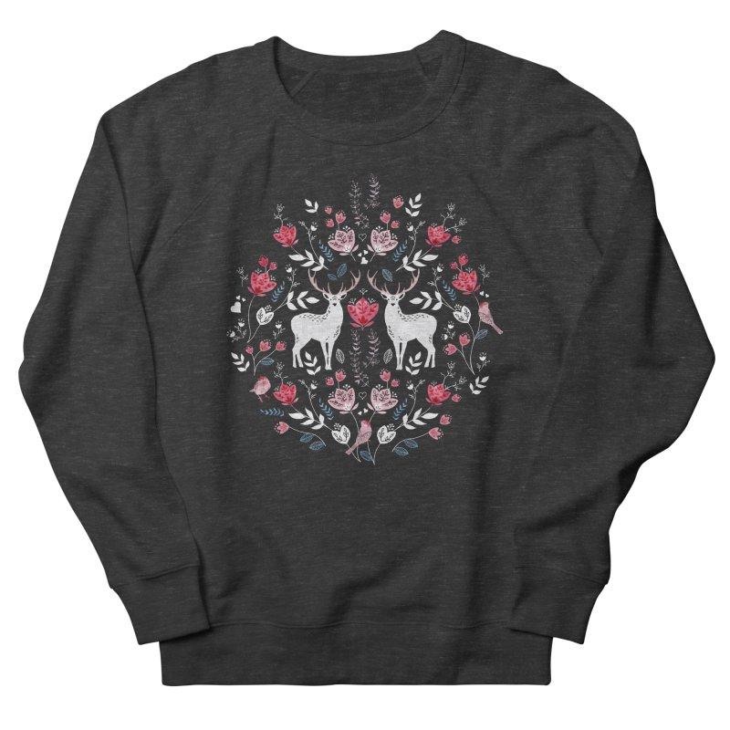 Scandinavian Deer Men's French Terry Sweatshirt by AdenaJ