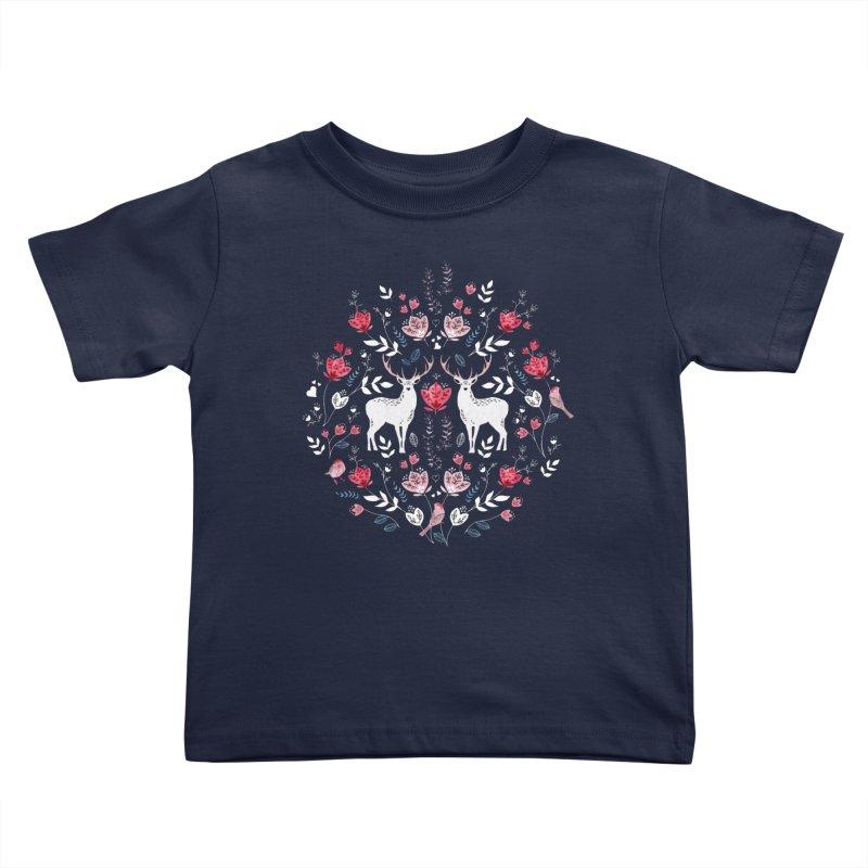 Scandinavian Deer Kids Toddler T-Shirt by AdenaJ