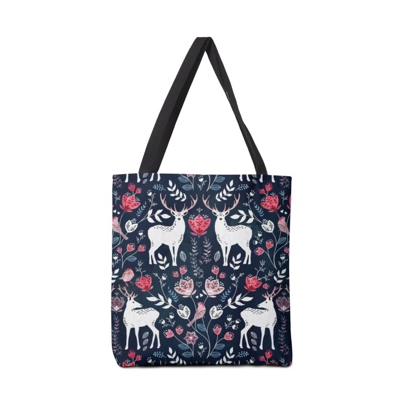 Scandinavian Deer in Tote Bag by AdenaJ