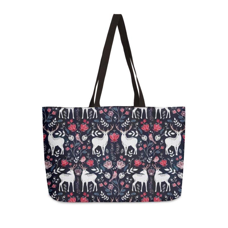 Scandinavian Deer Accessories Weekender Bag Bag by AdenaJ