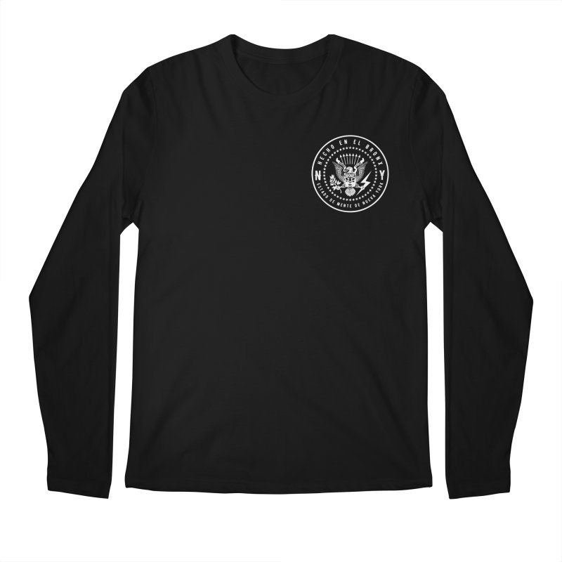 MADE IN THE BX / NY STATE OF MIND OVER THE HEART Men's Longsleeve T-Shirt by Adonde Life
