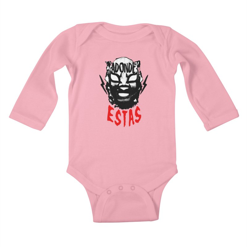 ADONDE ESTAS LOGO Kids Baby Longsleeve Bodysuit by Adonde Life