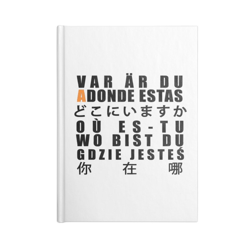 INTERNATIONAL ADONDE ESTAS Accessories Notebook by Adonde Life