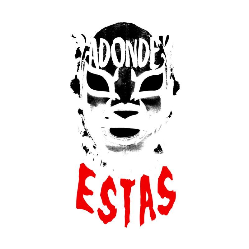 INVERTED ADONDE ESTAS LOGO Men's T-Shirt by Adonde Life