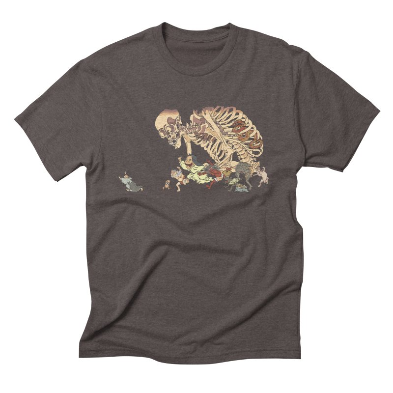Yokai Parade Men's Triblend T-shirt by Adrian Geary's Artist Shop
