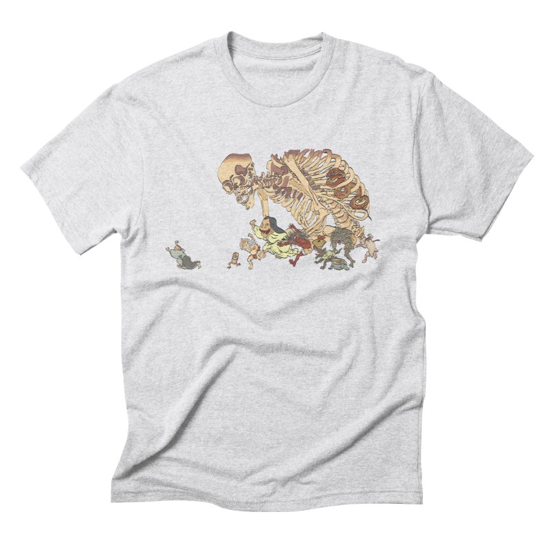 Yokai Parade Men's Triblend T-Shirt by Adrian Geary's Artist Shop