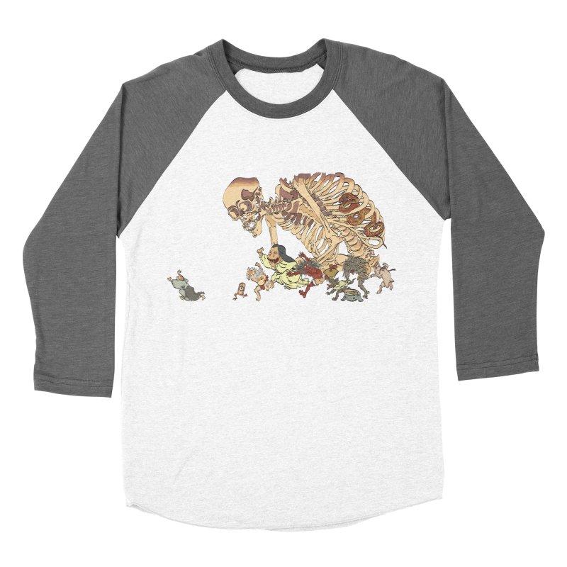Yokai Parade Women's Baseball Triblend T-Shirt by Adrian Geary's Artist Shop