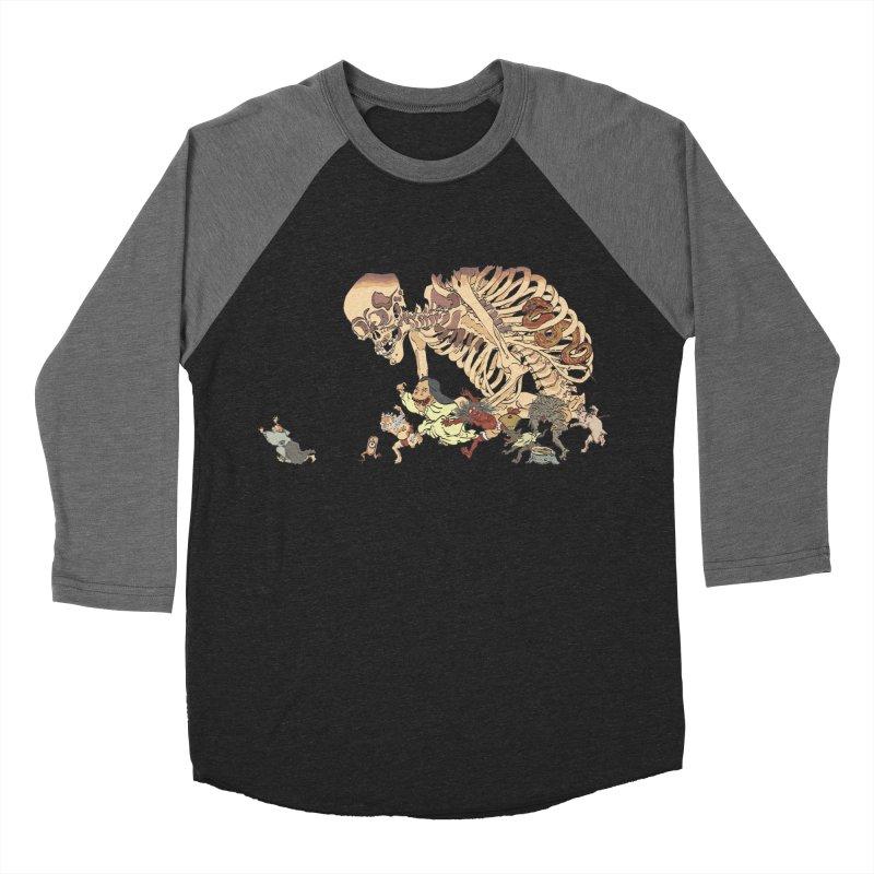 Yokai Parade Men's Baseball Triblend T-Shirt by Adrian Geary's Artist Shop