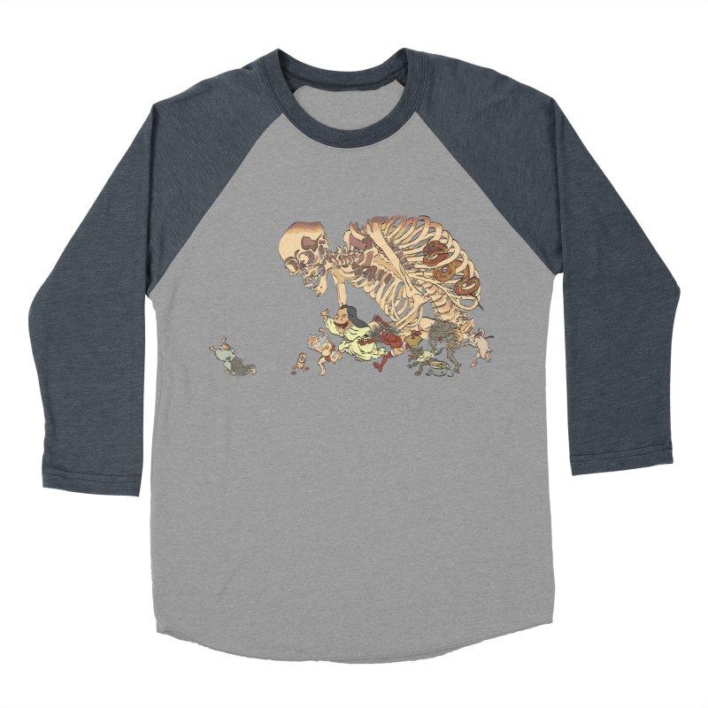Yokai Parade Men's Baseball Triblend Longsleeve T-Shirt by Adrian Geary's Artist Shop