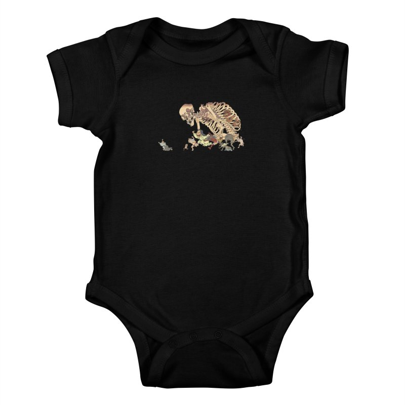 Yokai Parade Kids Baby Bodysuit by Adrian Geary's Artist Shop
