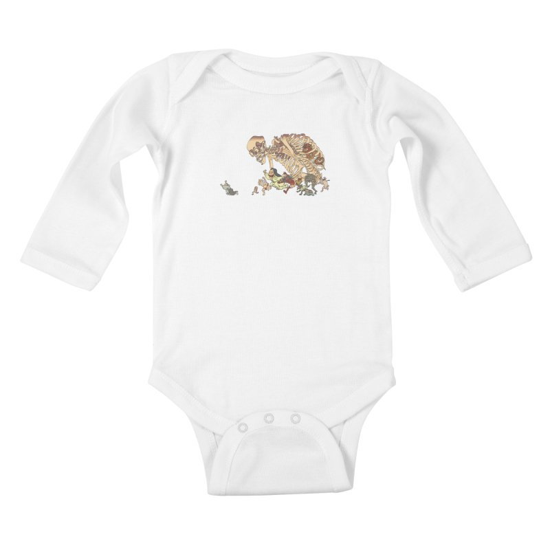 Yokai Parade Kids Baby Longsleeve Bodysuit by Adrian Geary's Artist Shop