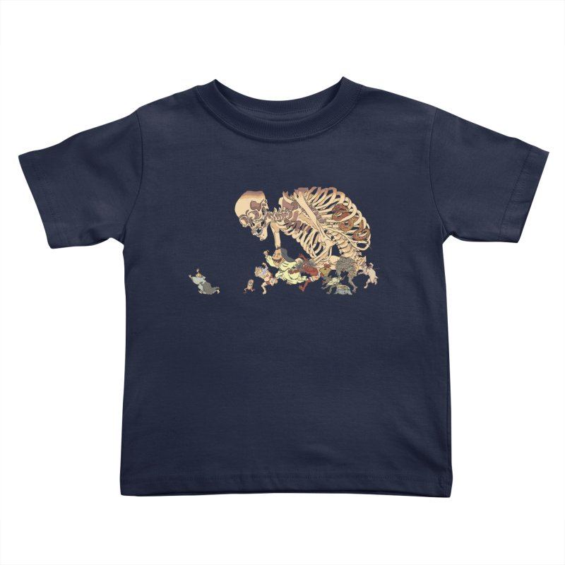 Yokai Parade Kids Toddler T-Shirt by Adrian Geary's Artist Shop