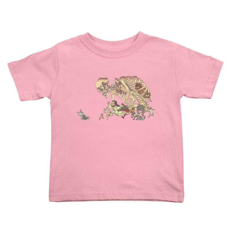 Yokai Parade Kids Toddler T-Shirt by Adrian Geary's Artist Shop