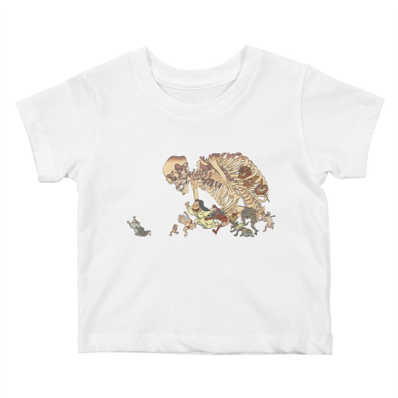 Yokai Parade Kids Baby T-Shirt by Adrian Geary's Artist Shop