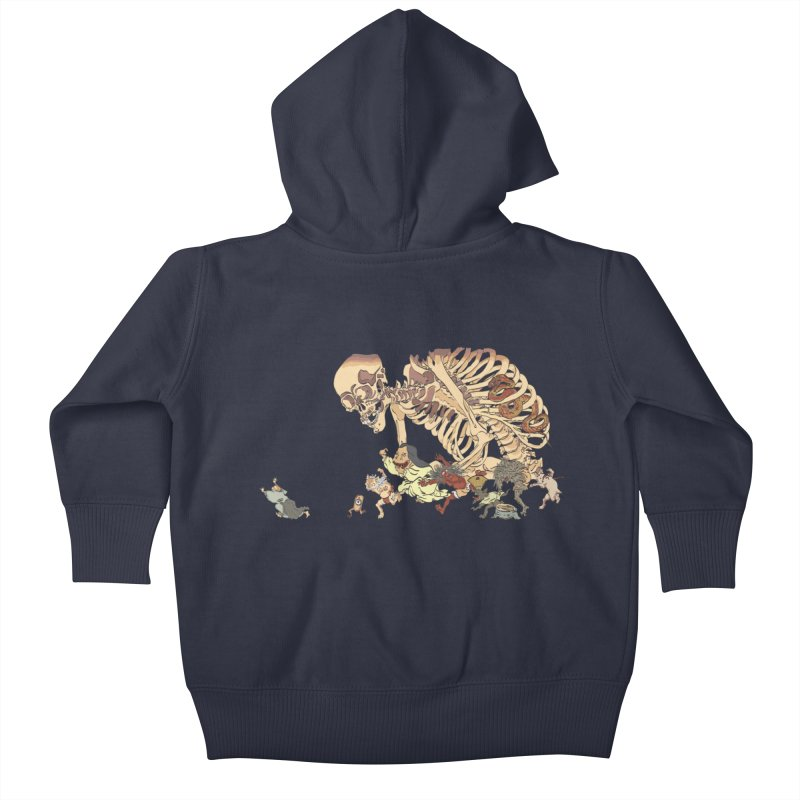 Yokai Parade Kids Baby Zip-Up Hoody by Adrian Geary's Artist Shop
