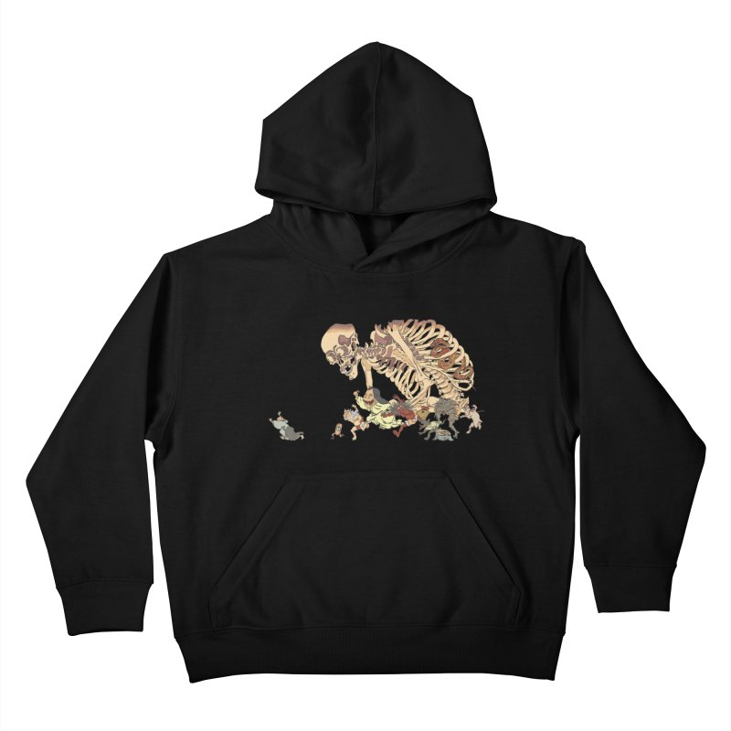 Yokai Parade Kids Pullover Hoody by Adrian Geary's Artist Shop