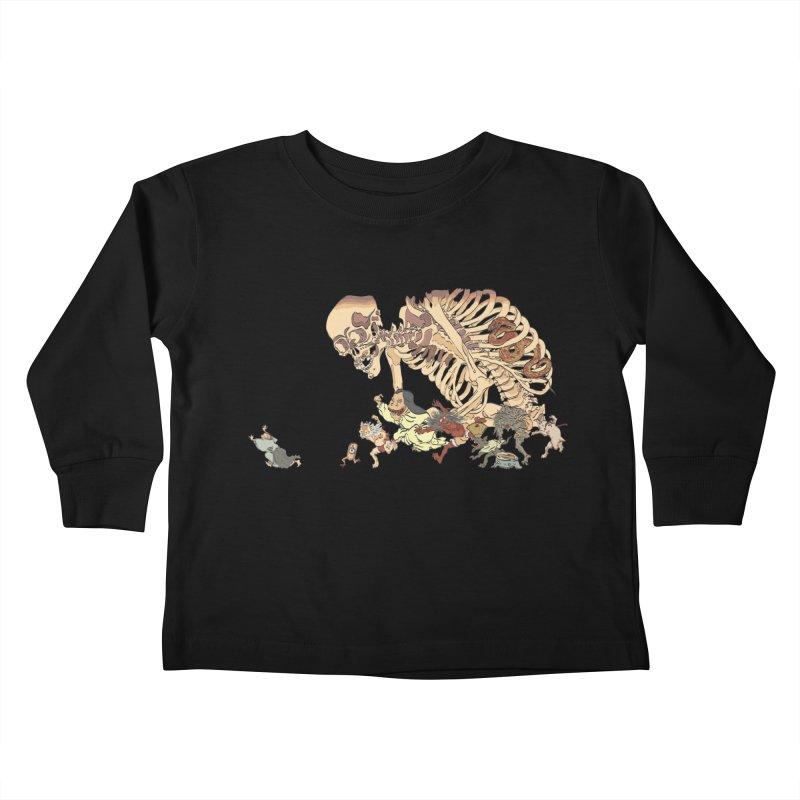 Yokai Parade Kids Toddler Longsleeve T-Shirt by Adrian Geary's Artist Shop