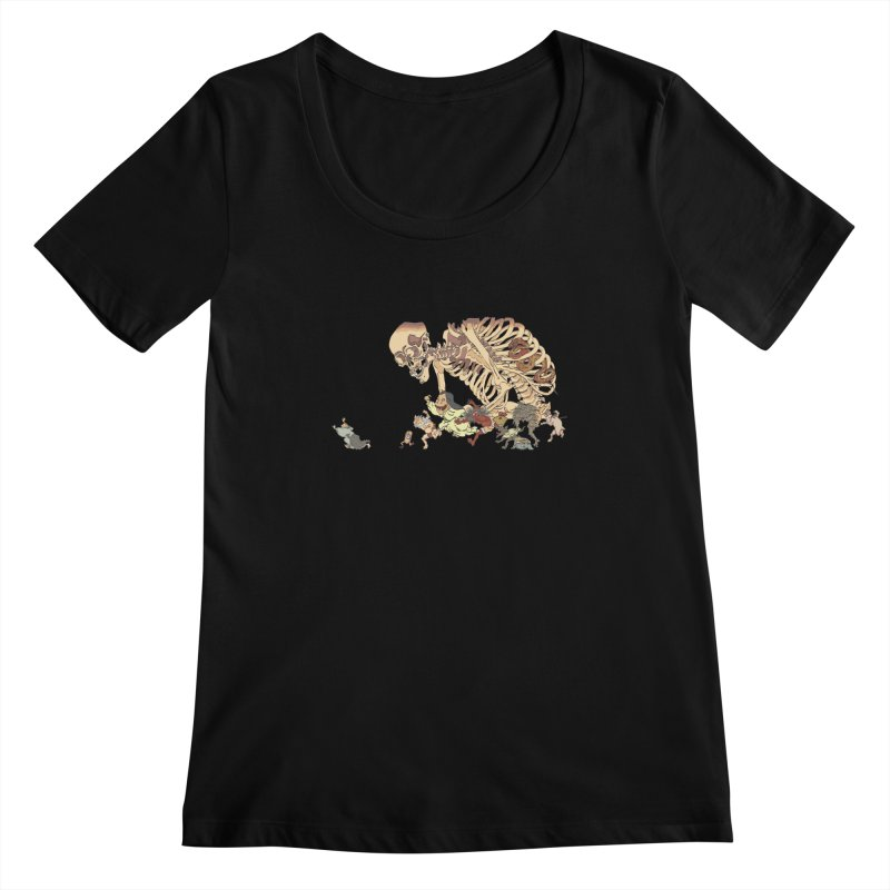 Yokai Parade Women's Scoopneck by Adrian Geary's Artist Shop