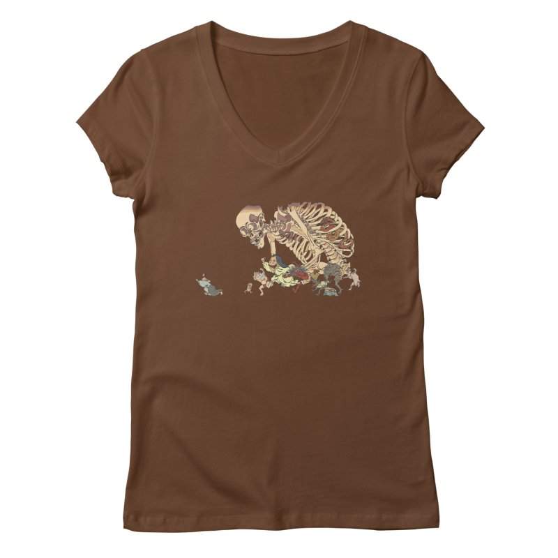 Yokai Parade Women's V-Neck by Adrian Geary's Artist Shop