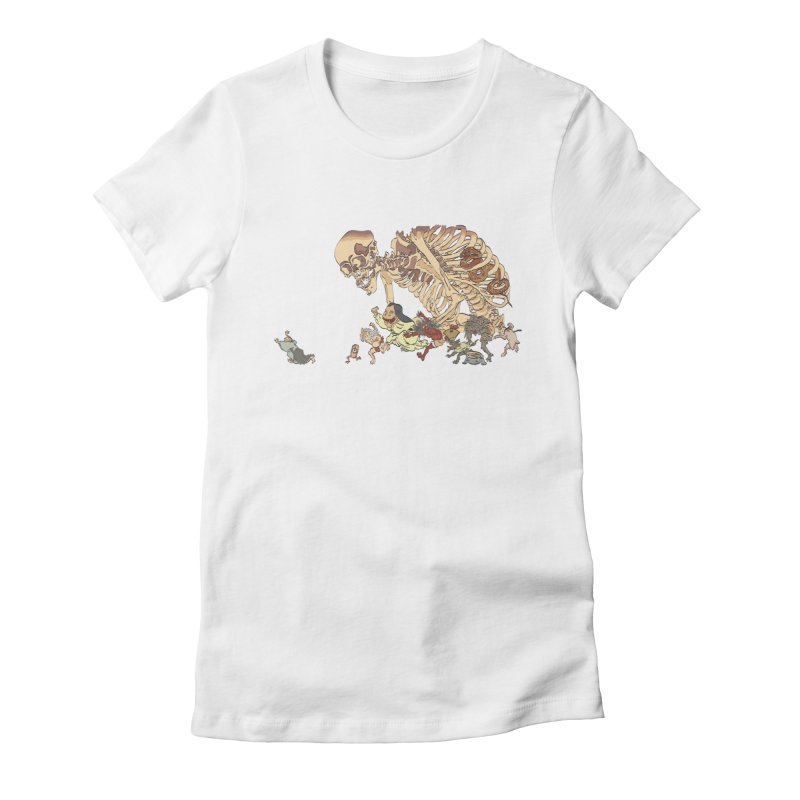 Yokai Parade Women's Fitted T-Shirt by Adrian Geary's Artist Shop