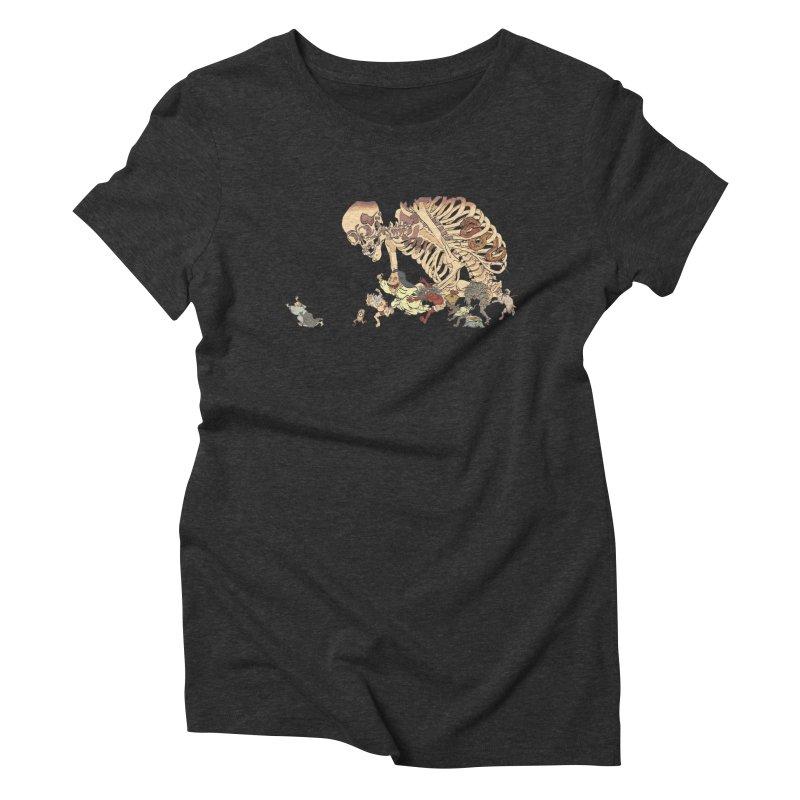 Yokai Parade Women's Triblend T-shirt by Adrian Geary's Artist Shop