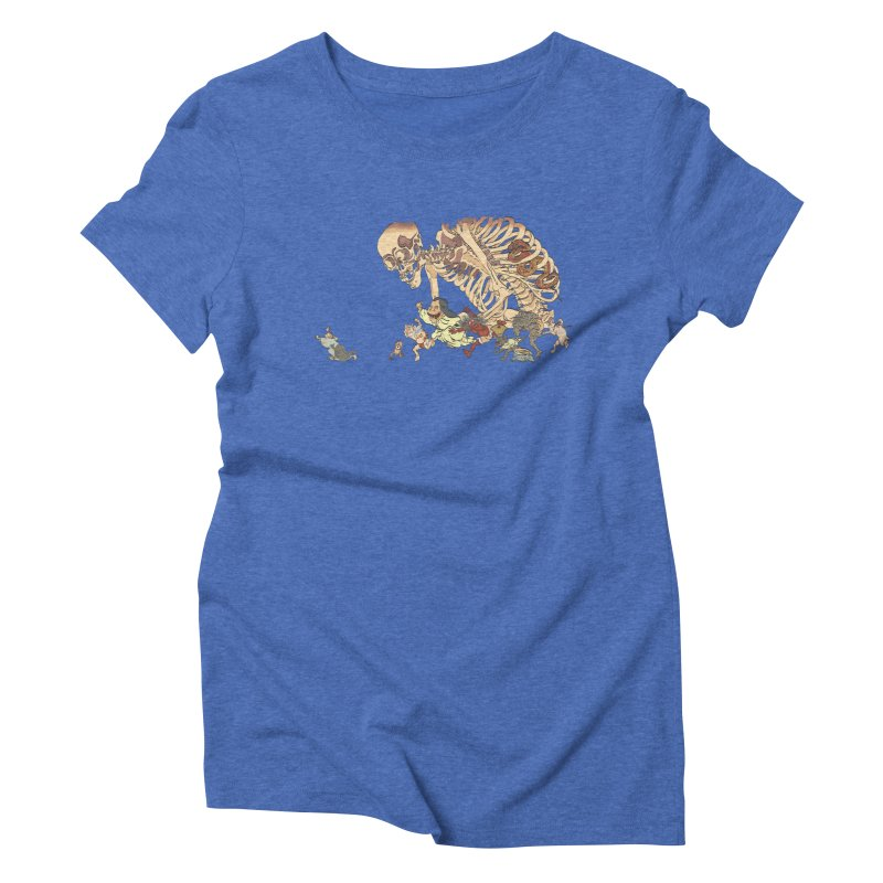 Yokai Parade Women's Triblend T-shirt by Adrian Geary's Artist Shop