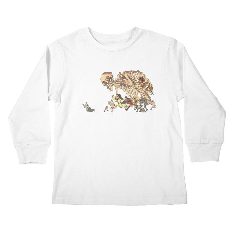 Yokai Parade Kids Longsleeve T-Shirt by Adrian Geary's Artist Shop