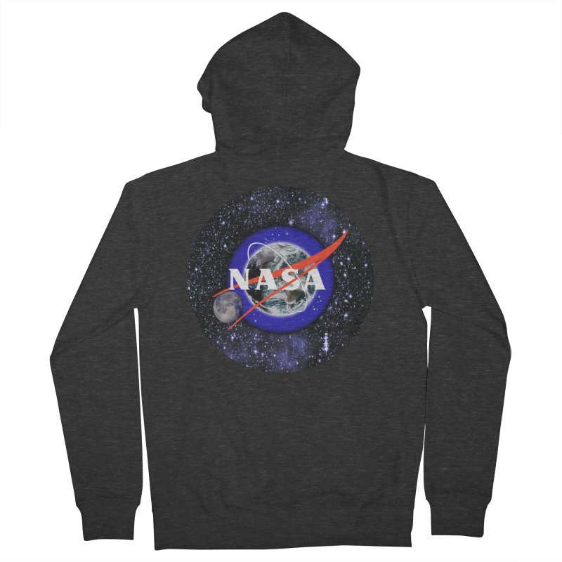New NASA logo Men's French Terry Zip-Up Hoody by New NASA logo