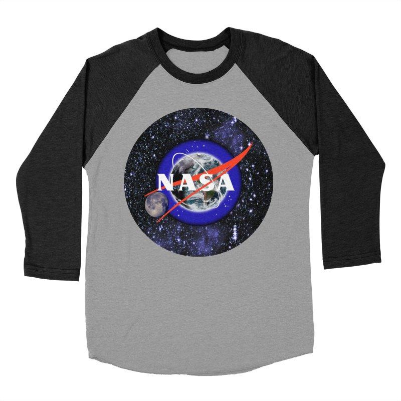 New NASA logo Men's Baseball Triblend Longsleeve T-Shirt by New NASA logo