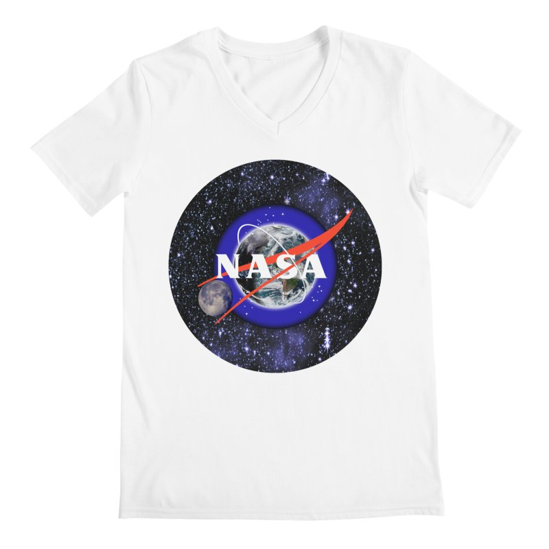 New NASA logo Men's V-Neck by New NASA logo