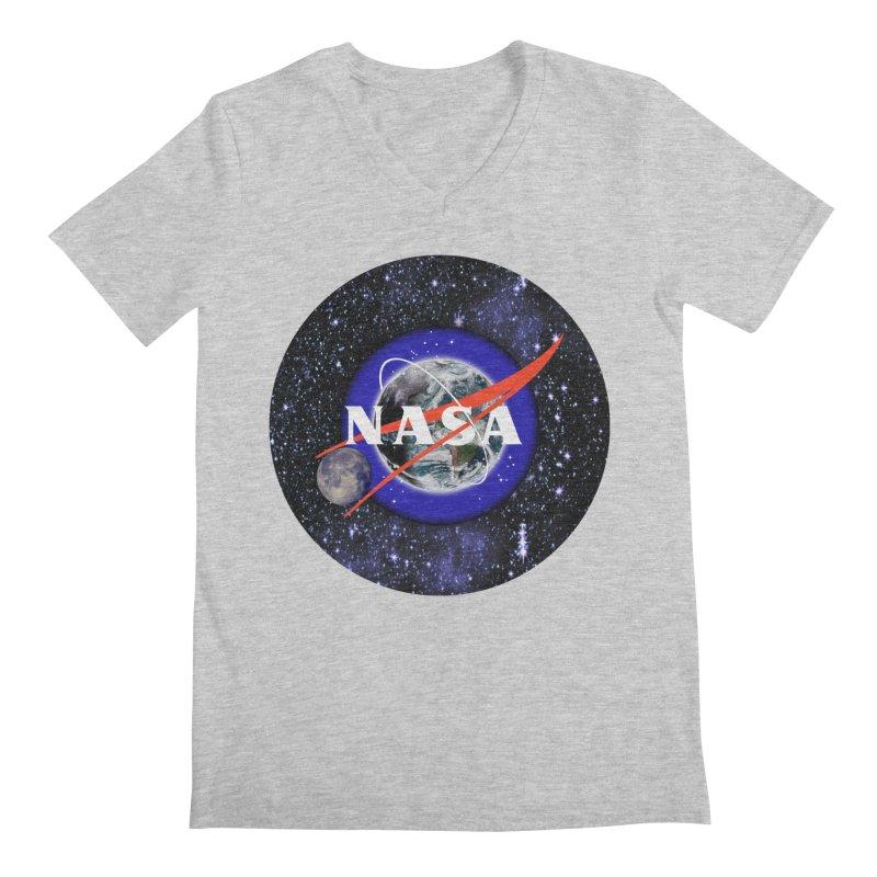 New NASA logo Men's Regular V-Neck by New NASA logo