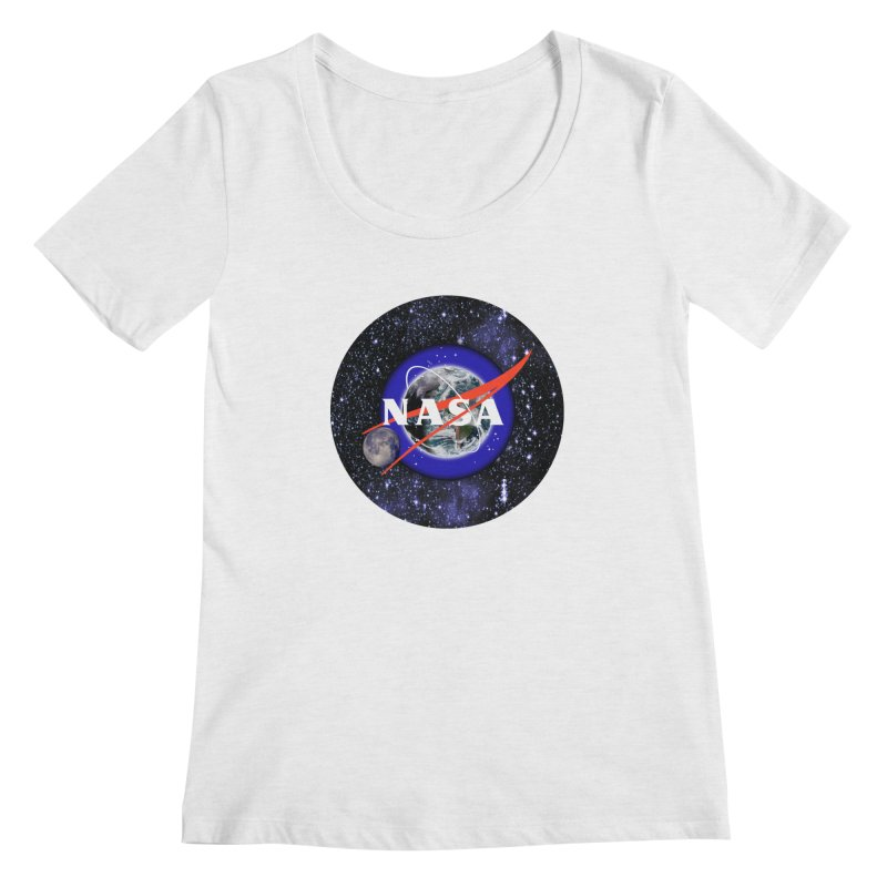 New NASA logo Women's Regular Scoop Neck by New NASA logo