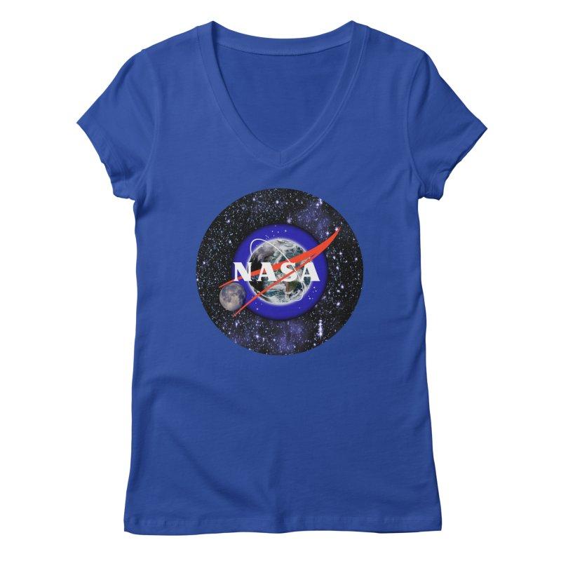 New NASA logo Women's Regular V-Neck by New NASA logo