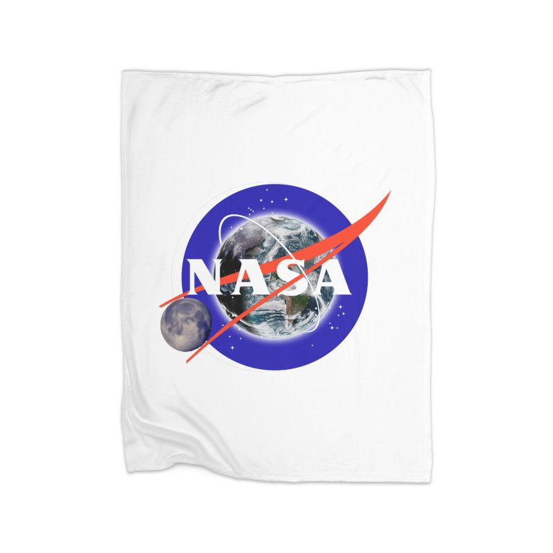 New NASA logo Home Fleece Blanket Blanket by New NASA logo
