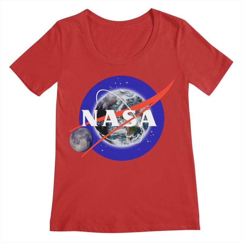 New NASA logo Women's Regular Scoop Neck by New NASA logo