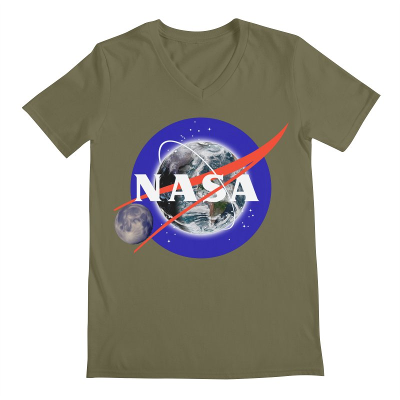 New NASA logo Men's Regular V-Neck by New NASA logo