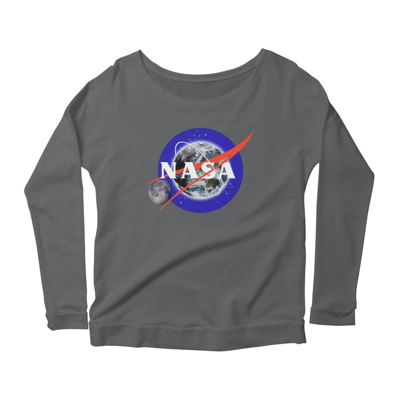 New NASA logo Women's Scoop Neck Longsleeve T-Shirt by New NASA logo