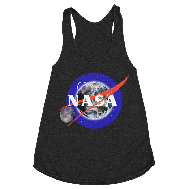New NASA logo Women's Racerback Triblend Tank by New NASA logo