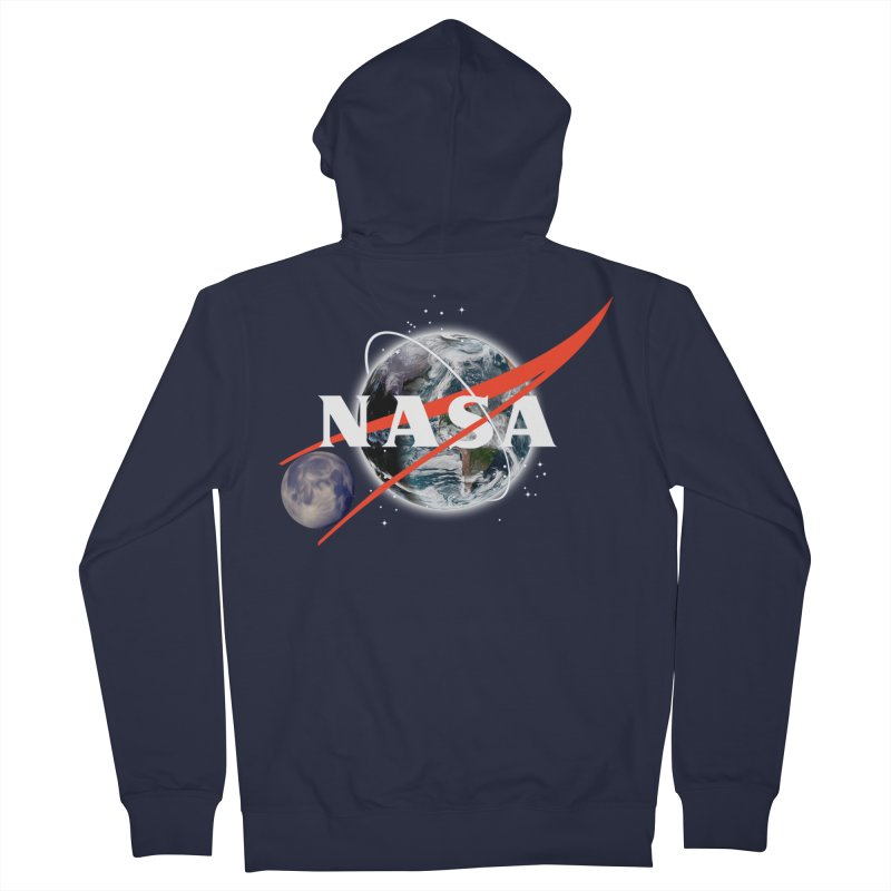 New NASA logo Men's French Terry Zip-Up Hoody by New NASA logo
