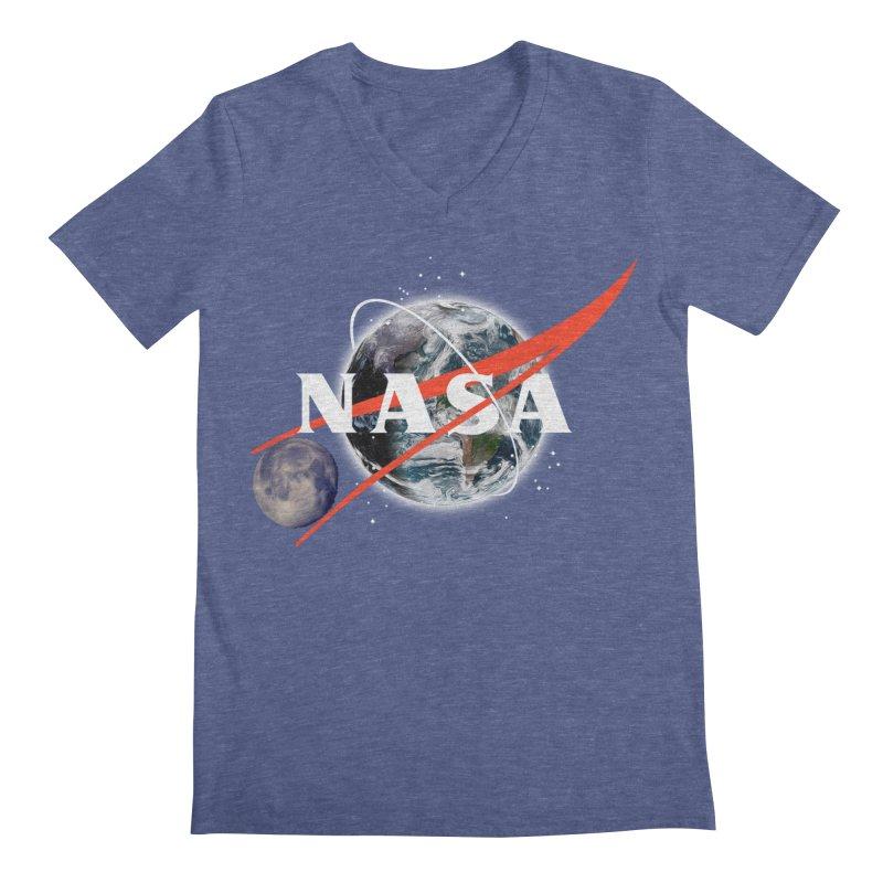 New NASA logo Men's V-Neck by New NASA logo
